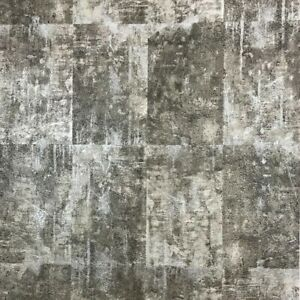 Wall-coverings-rolls-gray-silver-metallic-Wallpaper-Concrete-stone-slab-tiles-3D