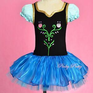 Image Is Loading Puff Sleeves Princess Anna Ballet Tutu Dance Costume