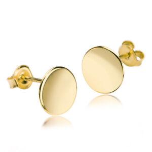 Ohrringe Kreis Ohrstecker Ring Edelstahl Ohrschmuck Gold Ohrschmuck Scheibe 8mm