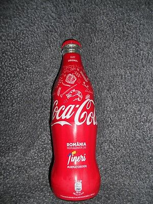 Coca-Cola 100 Years Of Romania Limited Edition Wrapped-Bottle 2018 Unopened