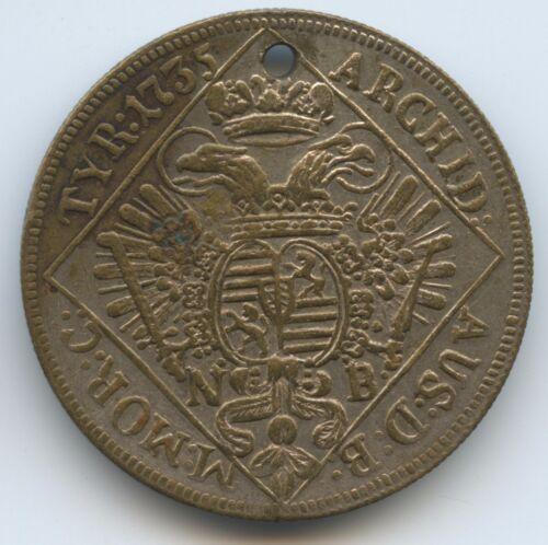 GX1060 Medaille Österreich 1/4 Taler NB 1735 - Karl VI. 1711-1740 für Charivari
