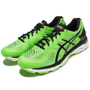 e327bfb79139 Asics Gel-Kayano 23 Green Black Men Running Shoes Sneakers Flytefoam ...