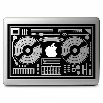 DJ Console Vinyl Sticker Decal for Apple Macbook Air & Pro Laptop Car Window Art