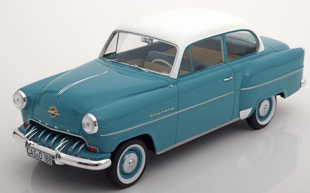 1953 Opel Olympia Rekord Turquoise   Blanc par Bos Modèles le de 504 1 18