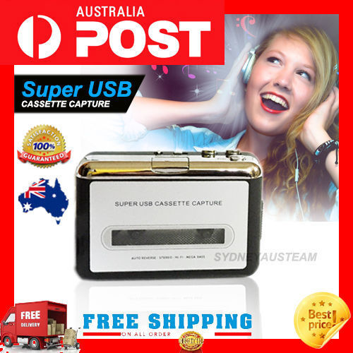 Tape to PC Super USB Cassette-to-MP3 Converter Capture Audio Music Player AU