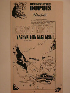 DECOUVERTE-DUPUIS-SPIROU-SUPPLEMENT-N-1942-AGNAN-NIANT-VACHERIE-DE-BACTERIE