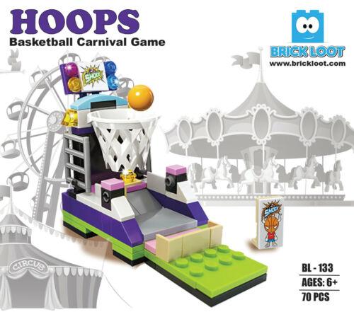 Brick Loot Hoops Basketball Carnival Game Modular Building Brick Blocks Set Kit