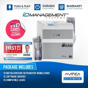 5d2fc74434b86 Matica XID 8300 Dual Sided Card Printer • Free UK Delivery • Ships ...
