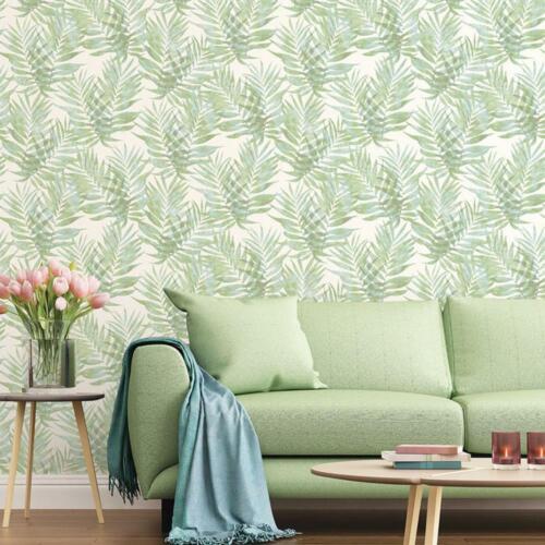 G67944-Organic textures motif feuille riche vert Galerie Papier Peint
