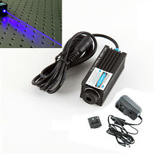 Focusable 450nm 1000mW 1W 12V blue laser dot diode module w/ AC Adapter