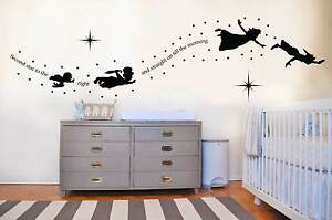 Peter pan tinkerbell second star to the right wall decal sticker ...