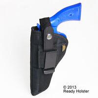 Belt & Clip Side Holster Ruger Redhawk, Super - 7.5 Barrel - Watch Video Demo
