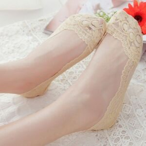 5x-Lady-Socks-Liner-Invisible-Lace-Cotton-Hosiery-Boat-Low-Cut-Footies-Thin-Cosy
