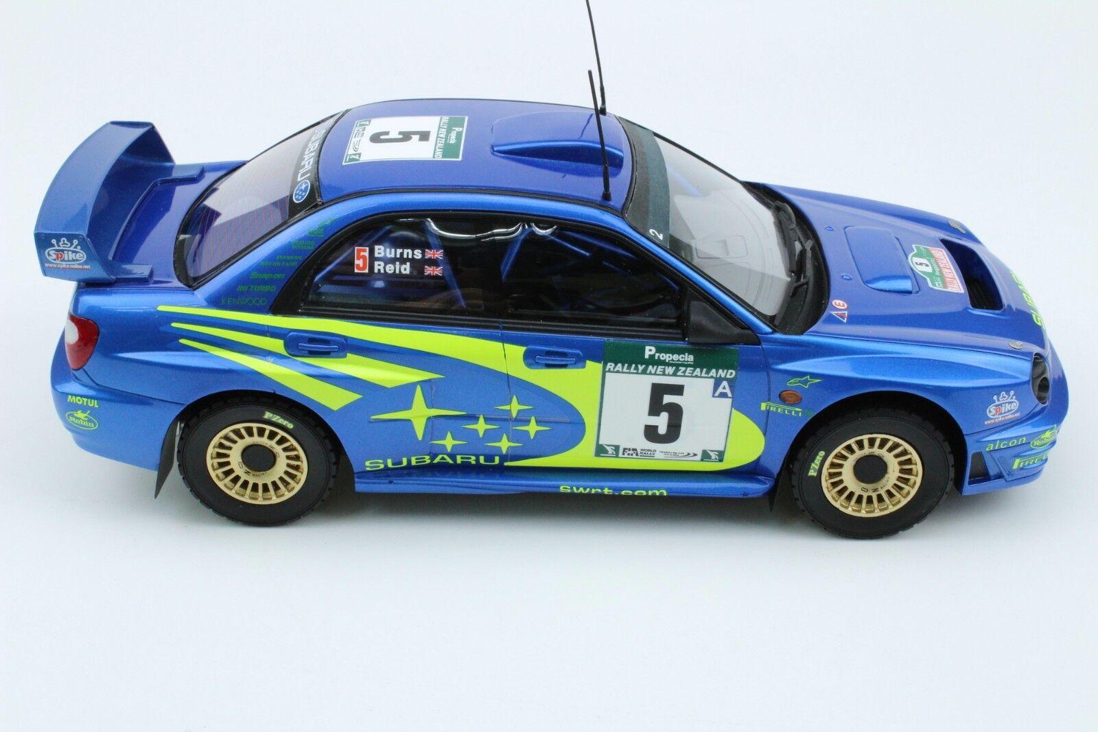 Top Marques 037B Subaru Impreza modelo de coche quemaduras Reid Rally de Nueva Zelanda 1 18th