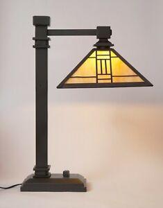"""Sehr elegante Art Déco Schreibtischlampe """"IMPERIAL PALACE"""" Tiffany"""