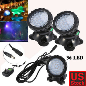Lights & Lighting Multi-color 36led Underwater Spot Light For Water Aquarium Garden Pond Fish Tank Lawn Lights For Outdoor Lighting Beautiful In Colour