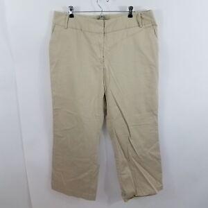 b21d736259f Apt 9 pants womens khaki chino trousers work career womens plus size ...