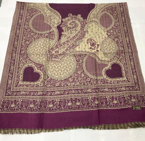 INDIAN Kashmir Poly Lana Inverno Woolen Wrap scialle sciarpa stola poncho pashmina