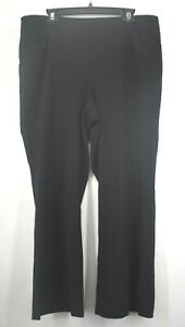 Chicos-Womens-Black-Straight-Leg-Stretch-Business-Chinos-Dress-Pants-Size-3