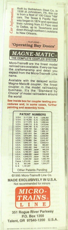 Micro Trains Line 55120 Texas&pacific 9006 Conf. 33 ' Twin Bay Hopper Conf. 9006 Orig. 1  b1a967