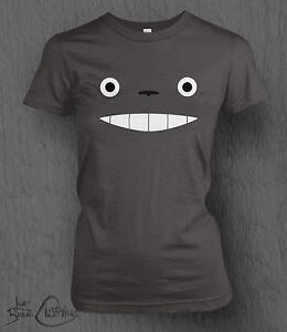 Studio-Ghibli-T-SHIRT-il-mio-vicino-Totoro-FACE-TEE-LADY-FIT-Ponyo-animato-AWAY