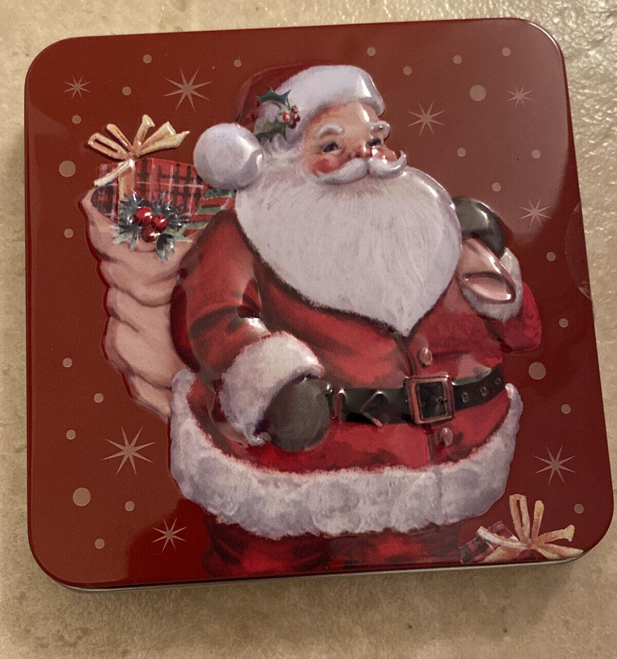 Pack of 5 Metal Christmas Santa Pendant 171842-98