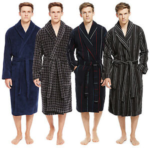 Marks   Spencer Mens Pure Cotton Luxury Velour Dressing Gown New M S ... 51c7d932e