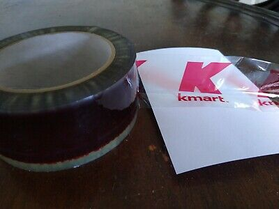 """NOS Kmart Retail Stores Clear Red Logo Security Sign Packing Tape 2/"""" 110yds Roll"""