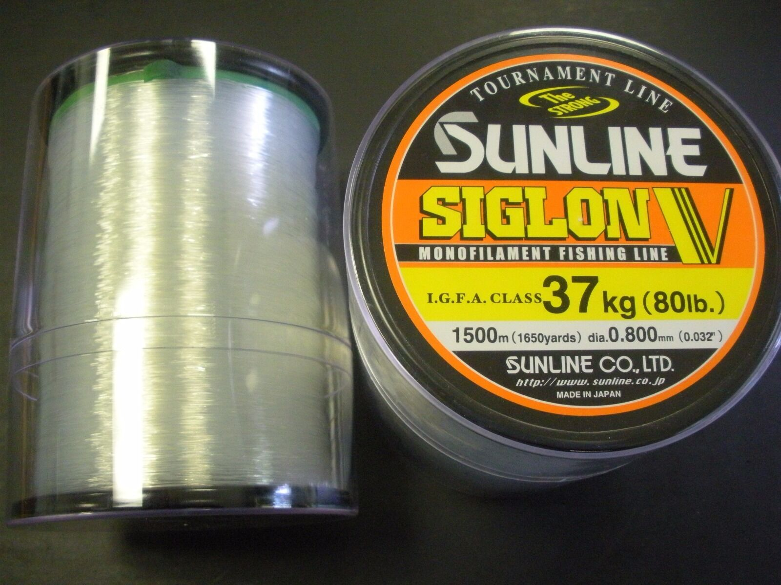 Sunline Siglon V Monofilament IGFA Fishing Line - 80 Lb, 1650 Yd, Clear, New