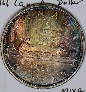 Canada-1966-Dollar-beautiful-green-purple-blue-toning-CA0143-combine-shipping