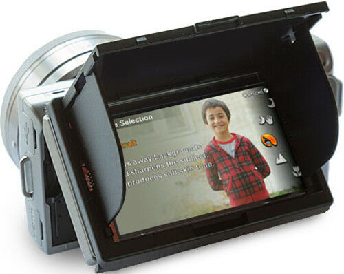 LCD Screen Protector Pop-up Hood Cover for Sony Alpha NEX-3 NEX-5 NEX-5C
