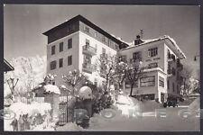 BELLUNO CORTINA D'AMPEZZO 130 HOTEL ALBERGO NEVE Cartolina FOTOGRAF. viagg. 1955