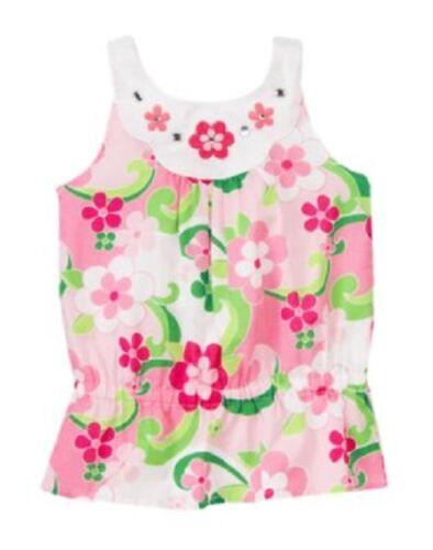 Gymboree Floral Mermaid Top Sizes 7 9 10 Pink Flower Gems Shirt New Twins