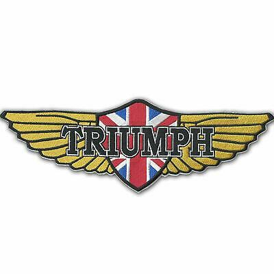 Triumph Logo Embroidered Cloth Patches Applique Badge Iron Sew On