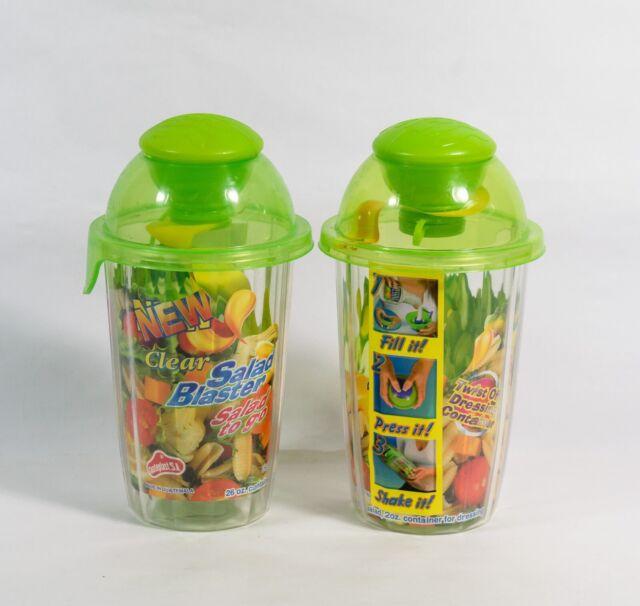2oz Dressing Container Portion Control Salad Blaster Bowl 26oz Salad to Go