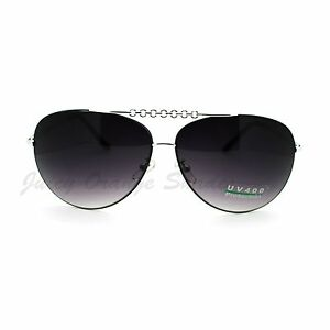 7a497a2fefd Women s Round Aviator Sunglasses Flat Top Rimless Design UV 400
