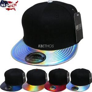 88939e712cd472 Image is loading Fashion-Hologram-Shine-Print-Hiphop-Cap-Snapback-Baseball-