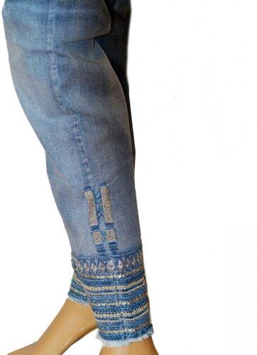 Monday Premium Jeans Hose mit Strass /& Pailletten am Knöchel