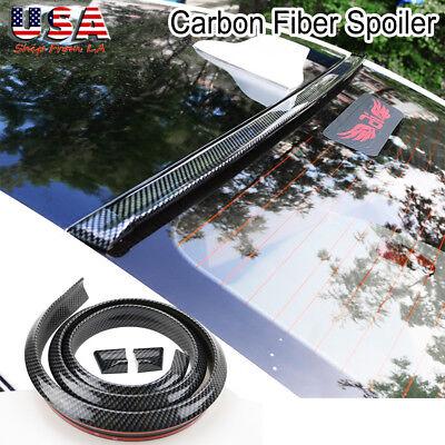 NEW Carbon Fiber Spoiler Rubber Rear Roof Trunk Molding Lip Sport Wing