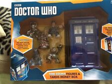 Doctor Who 12th doctor tardis  money box and five time squad figures