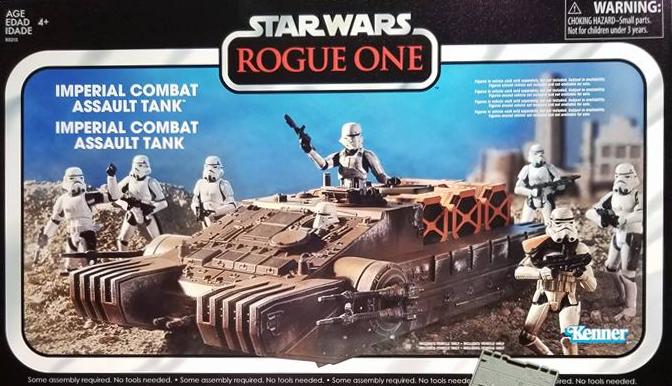 HASBRO Star Wars Vintage Colección Rogue un Asalto Combate Sistema Imperial Hover Tank