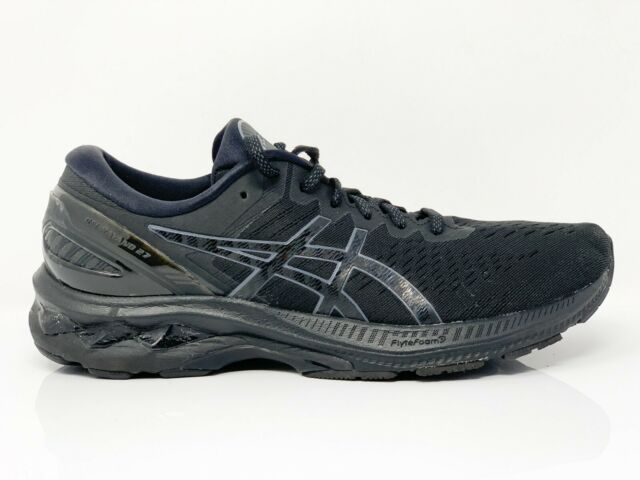 Asics Womens Gel Kayano 27 1012A649 Black Grey Running Shoes Lace Up Size 10.5
