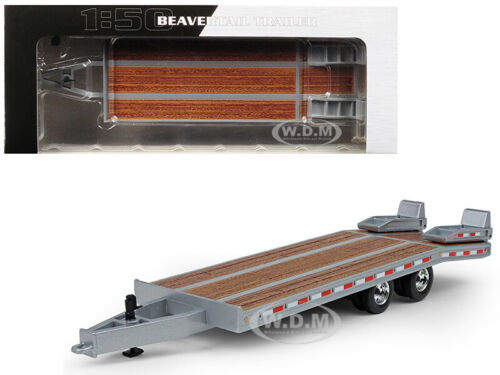BEAVERTAIL TRAILER SILVER 1/50 DIECAST MODEL BY FIRST GEAR 50-3192