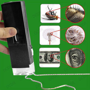 Illuminated Pocket Microscope,  Magnify 30x Portable Magnification Hobby Science