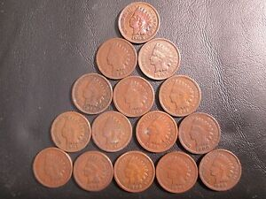 11-Different-dated-Indian-Head-pennies
