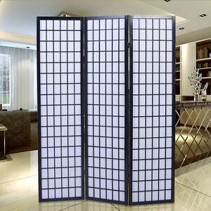 modern room divider 3 folding panel privacy screen separator japanese