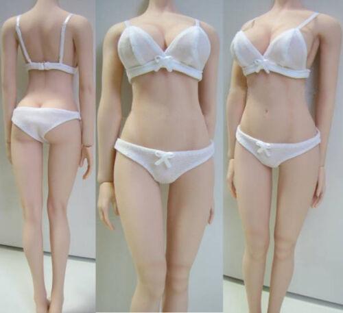1//6 Female White Underwear Bikini Clothing Set Fit 12/'/' Seamless Body