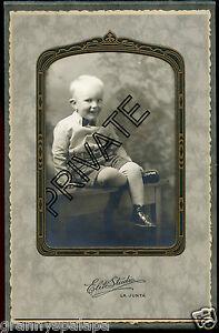 Antique Photo, La Junta, Colorado - Little Boy All Dress up-Knickers W Big Smile