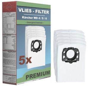5-x-Vliesfilterbeutel-Staubsaugerbeutel-Kaercher-MV-4-MV-5-MV-6-WD-Premium