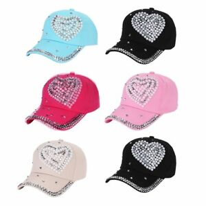20972820d1161 Image is loading Fashion-Peach-Love-Rhinestone-Diamond-Child-Hat-Ladies-